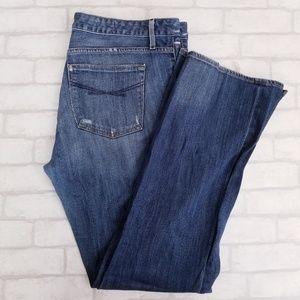 GAP 1969 Sexy Boot Jeans Distressed Medium Wash 16